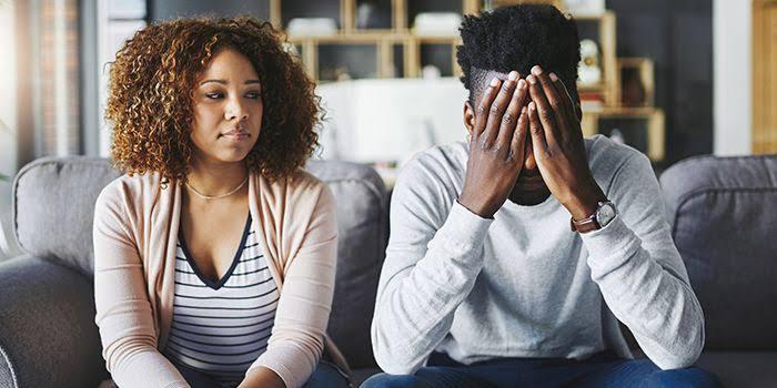An unhappy couple