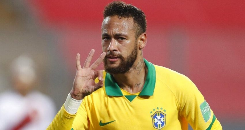 Neymar becomes Brazil's second-highest scorer of all-time.