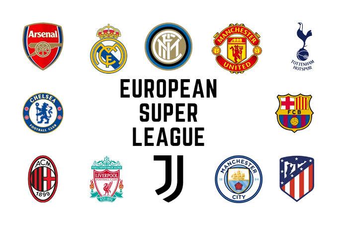 Premier League's big six among 12 clubs confirming the formation of the European Super League