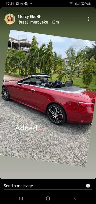 Mercy Eke's new car